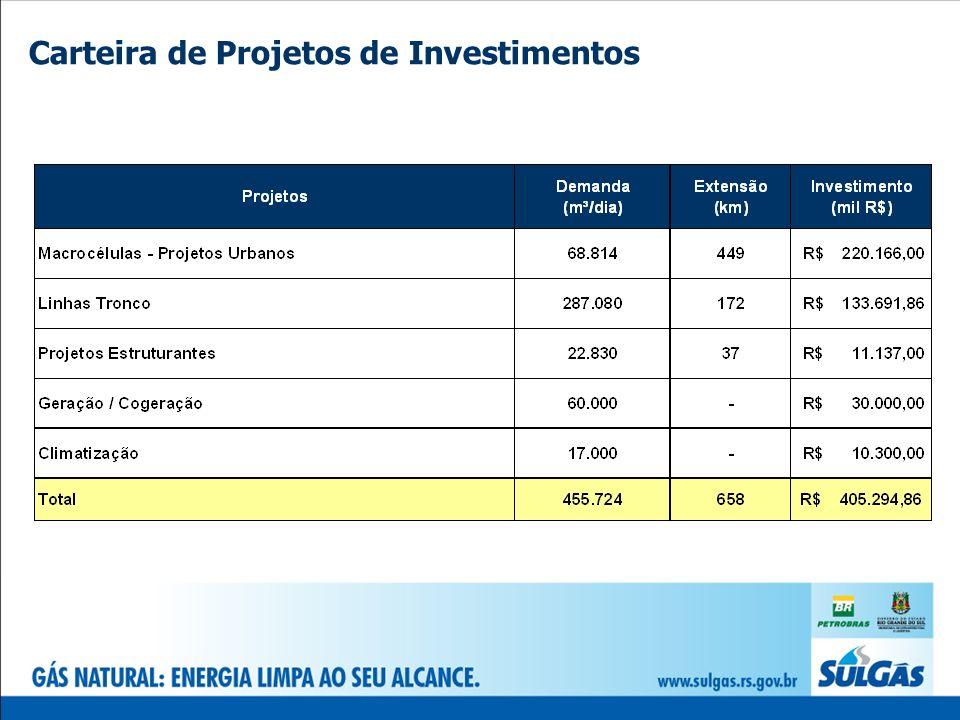 Carteira de Projetos de Investimentos