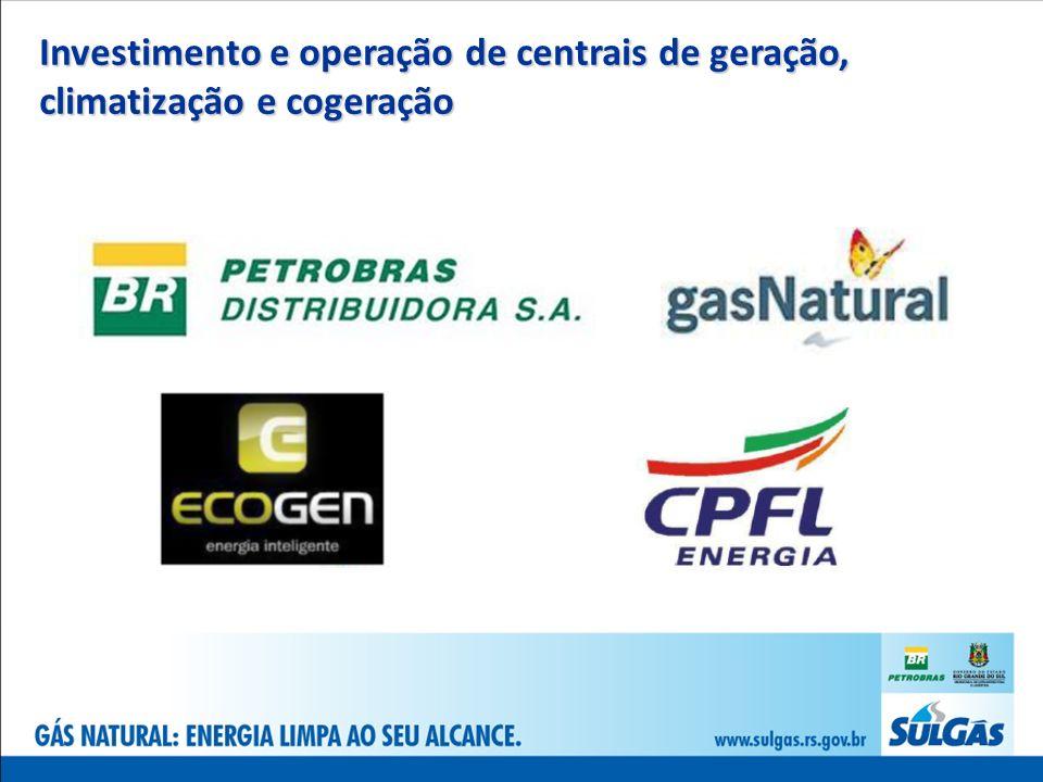 Investimento e operação de centrais de geração, climatização e cogeração
