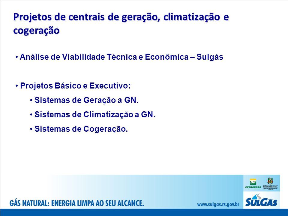 Projetos de centrais de geração, climatização e cogeração