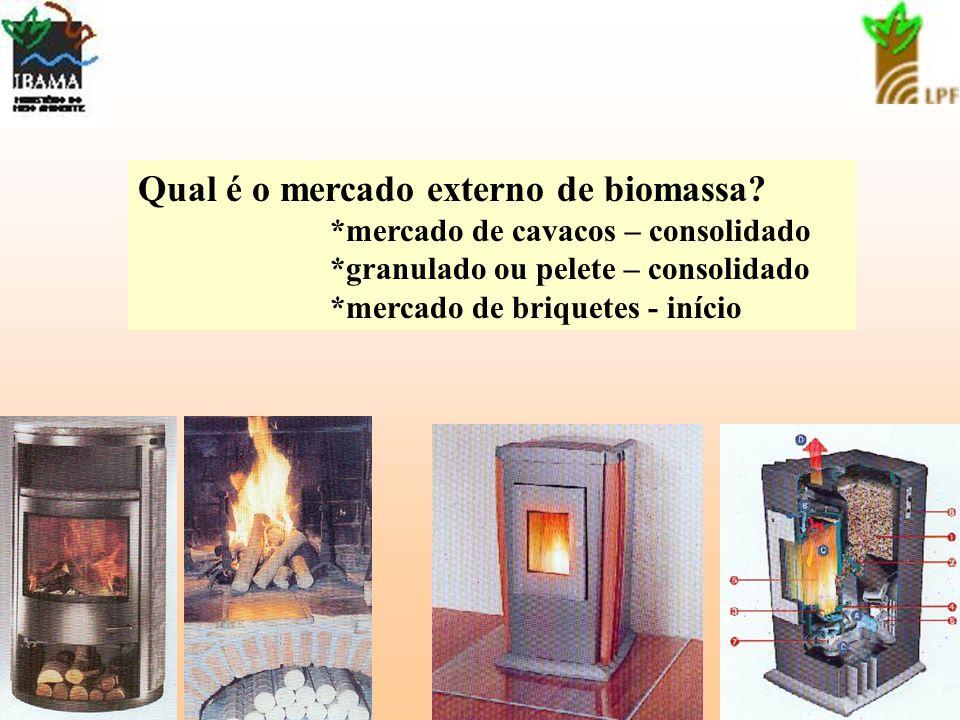 Qual é o mercado externo de biomassa