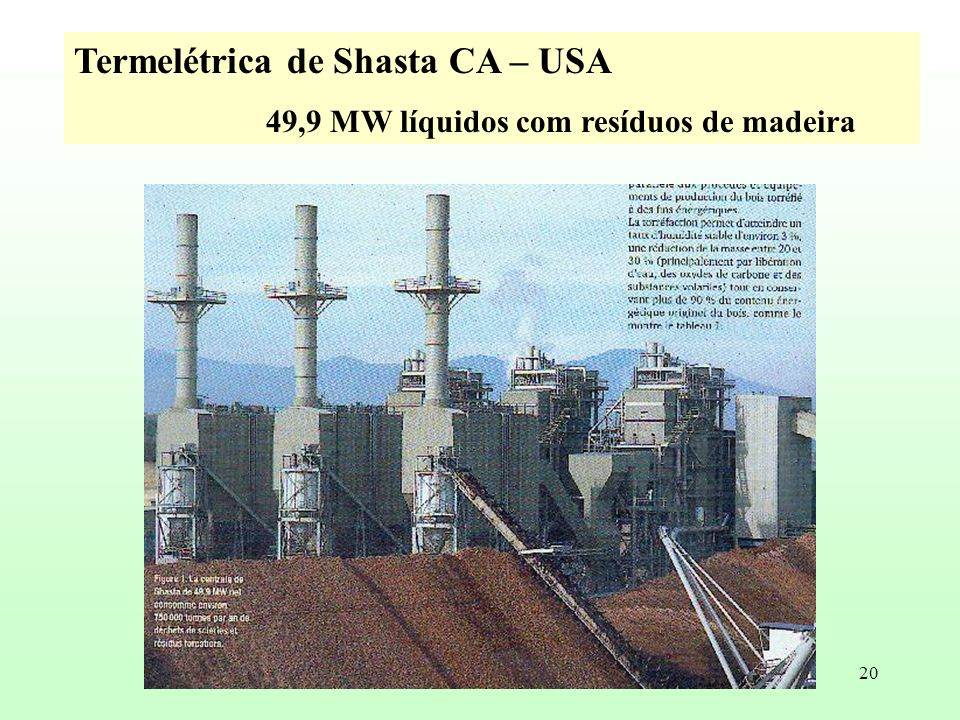 Termelétrica de Shasta CA – USA