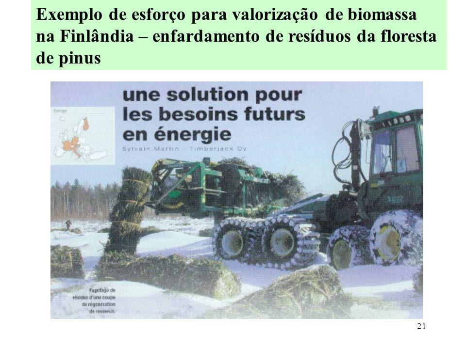 Exemplo de esforço para valorização de biomassa na Finlândia – enfardamento de resíduos da floresta de pinus