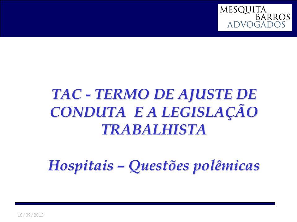 TAC - TERMO DE AJUSTE DE CONDUTA E A LEGISLAÇÃO TRABALHISTA