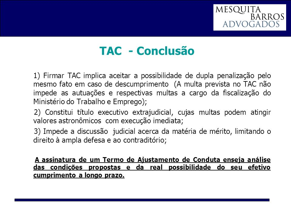 TAC - Conclusão