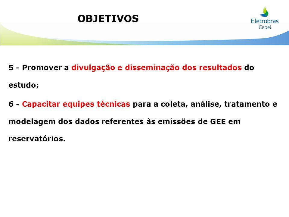OBJETIVOS 5 - Promover a divulgação e disseminação dos resultados do estudo;