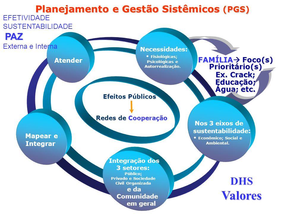 Planejamento e Gestão Sistêmicos (PGS) FAMÍLIA Foco(s) Prioritário(s)