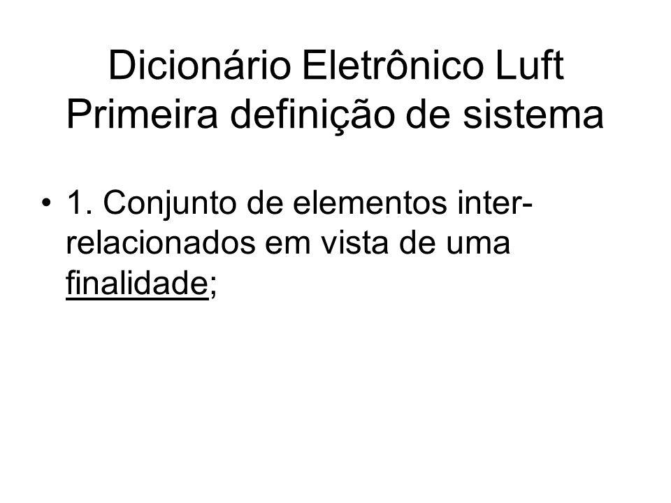 Dicionário Eletrônico Luft Primeira definição de sistema