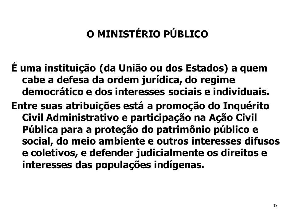 O MINISTÉRIO PÚBLICO