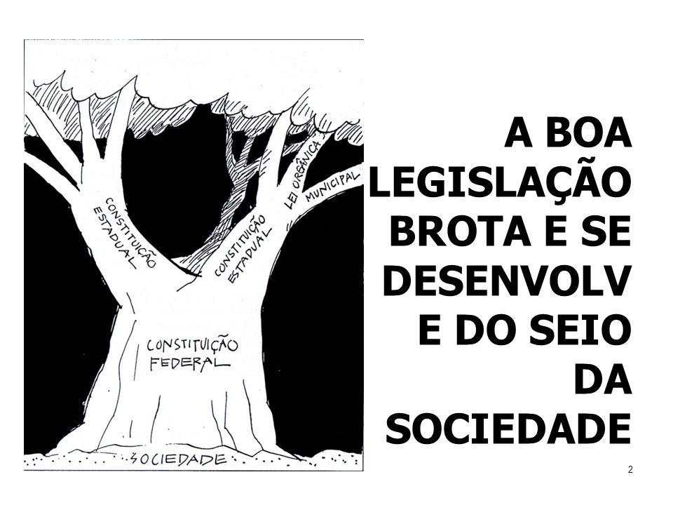 A BOA LEGISLAÇÃO BROTA E SE DESENVOLVE DO SEIO DA SOCIEDADE