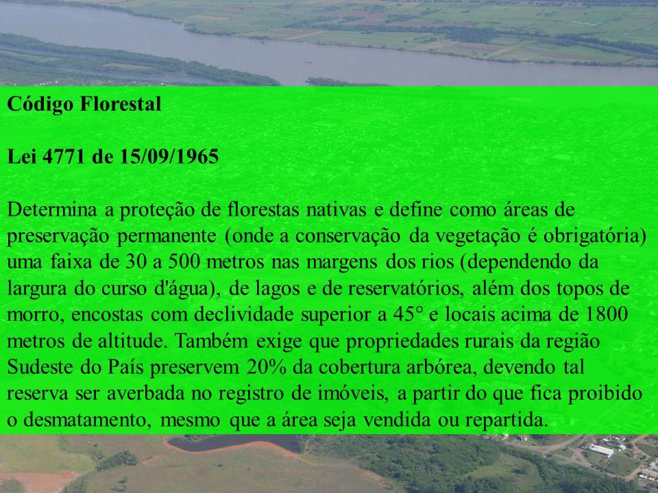 Código Florestal Lei 4771 de 15/09/1965.