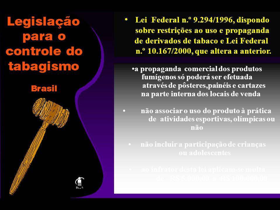 Lei Federal n.º 9.294/1996, dispondo