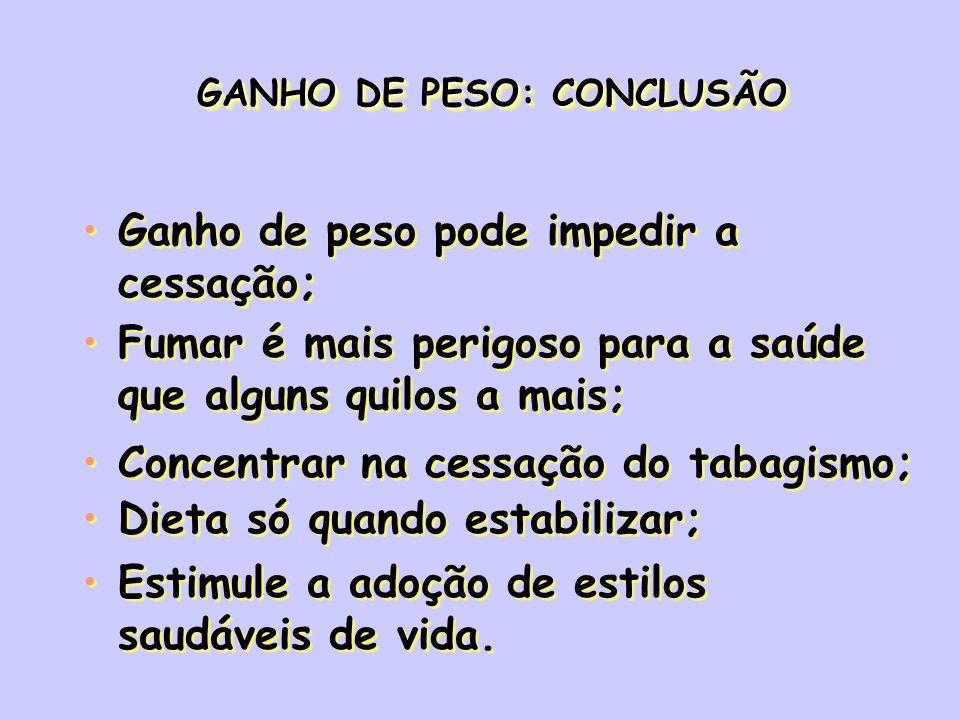 GANHO DE PESO: CONCLUSÃO