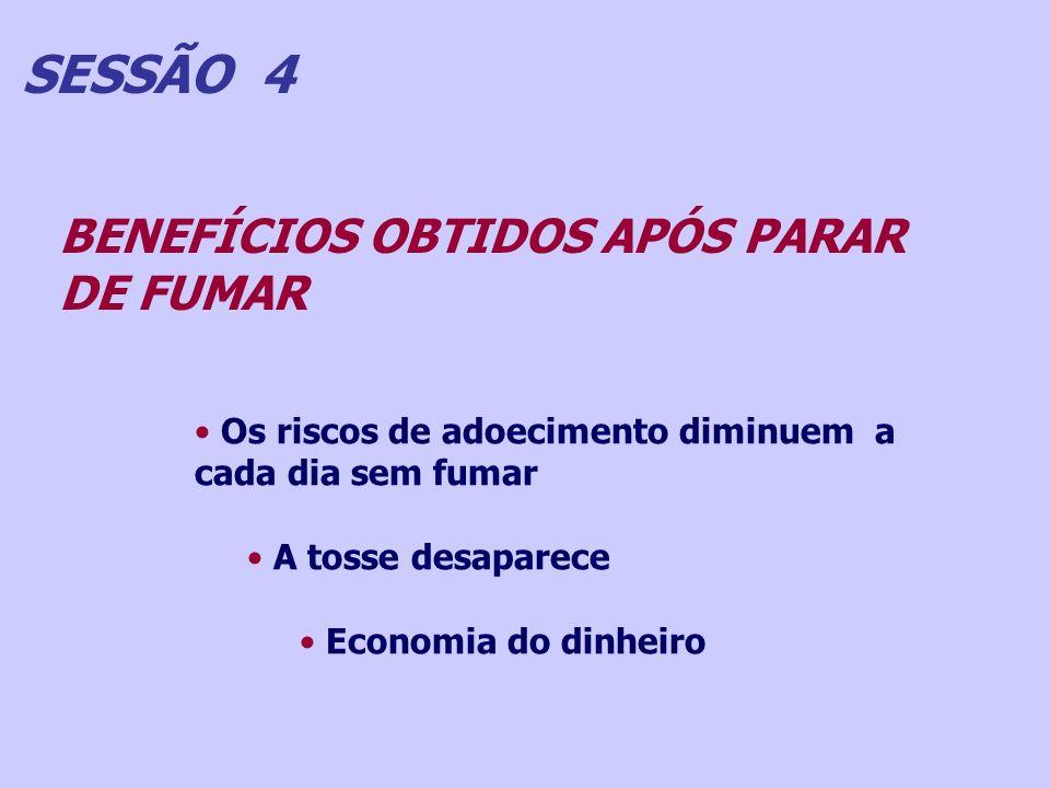 SESSÃO 4 BENEFÍCIOS OBTIDOS APÓS PARAR DE FUMAR
