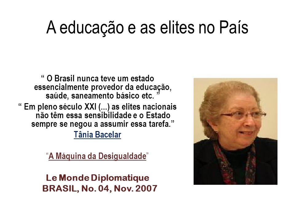 A educação e as elites no País