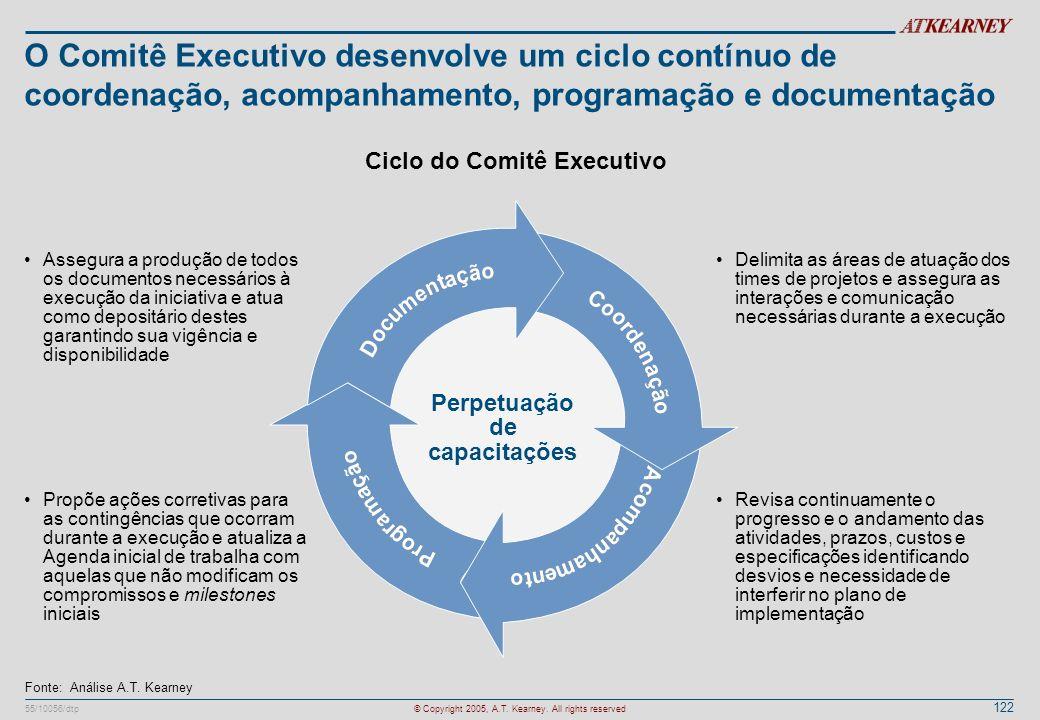 Ciclo do Comitê Executivo Perpetuação de capacitações