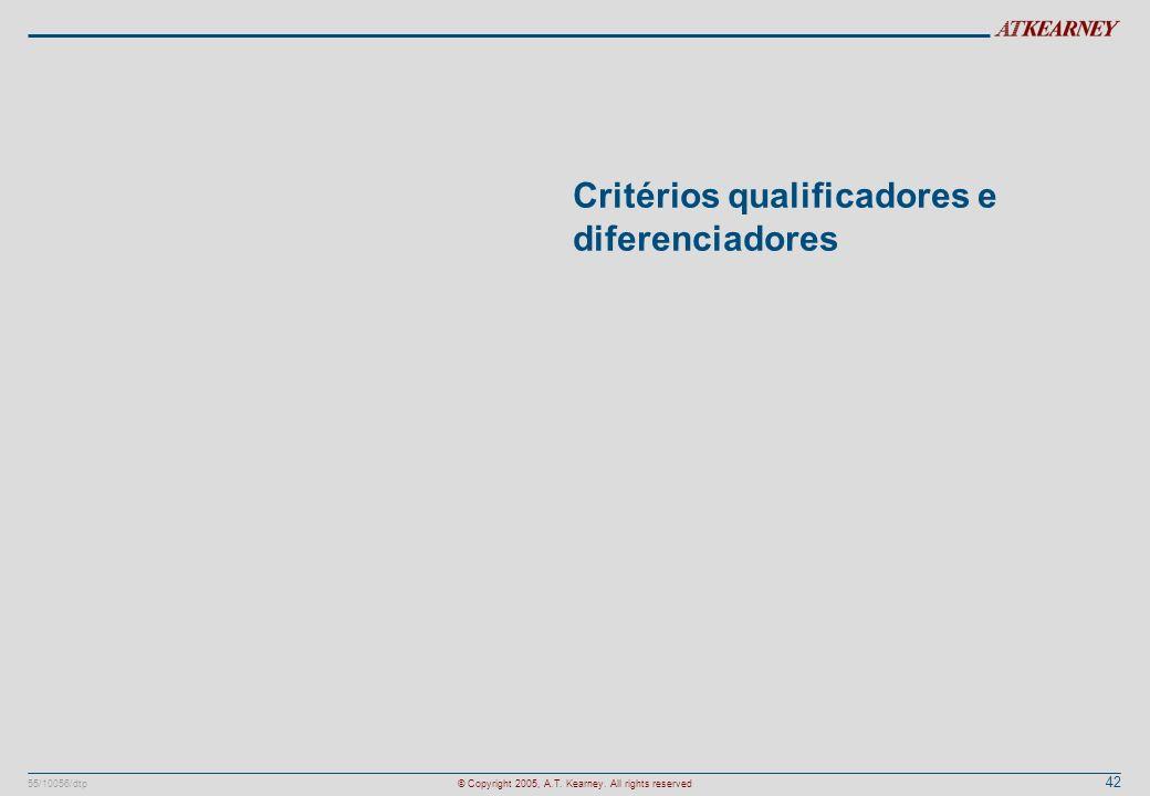 Critérios qualificadores e diferenciadores
