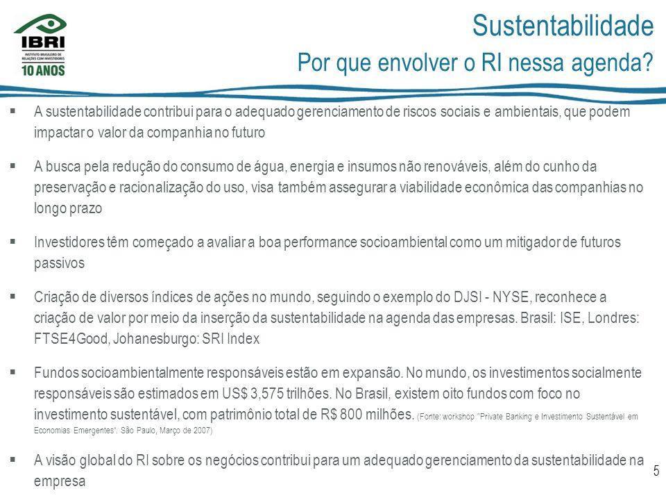 Sustentabilidade Por que envolver o RI nessa agenda