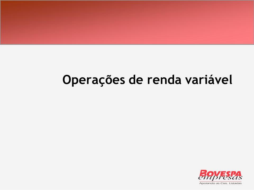 Operações de renda variável