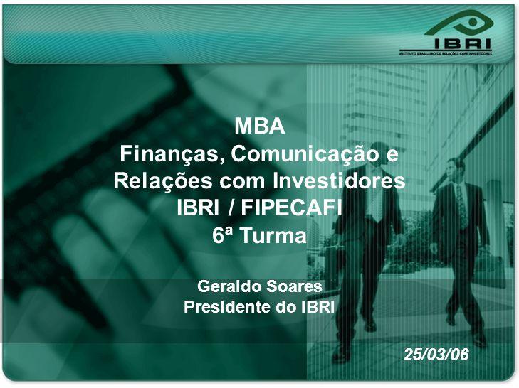 Finanças, Comunicação e Relações com Investidores