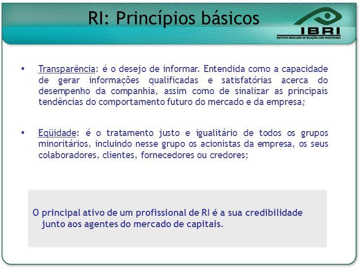 RI: Princípios básicos