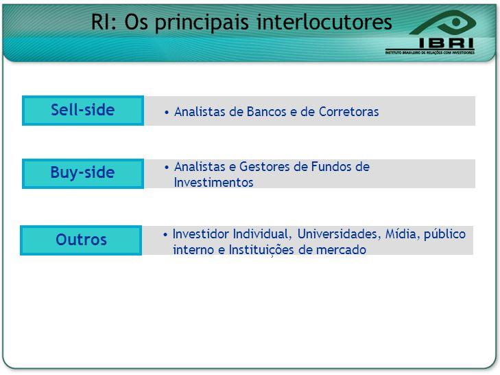 RI: Os principais interlocutores