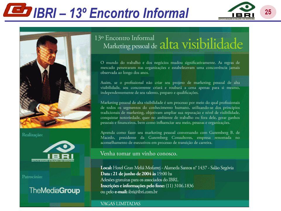 IBRI – 13º Encontro Informal