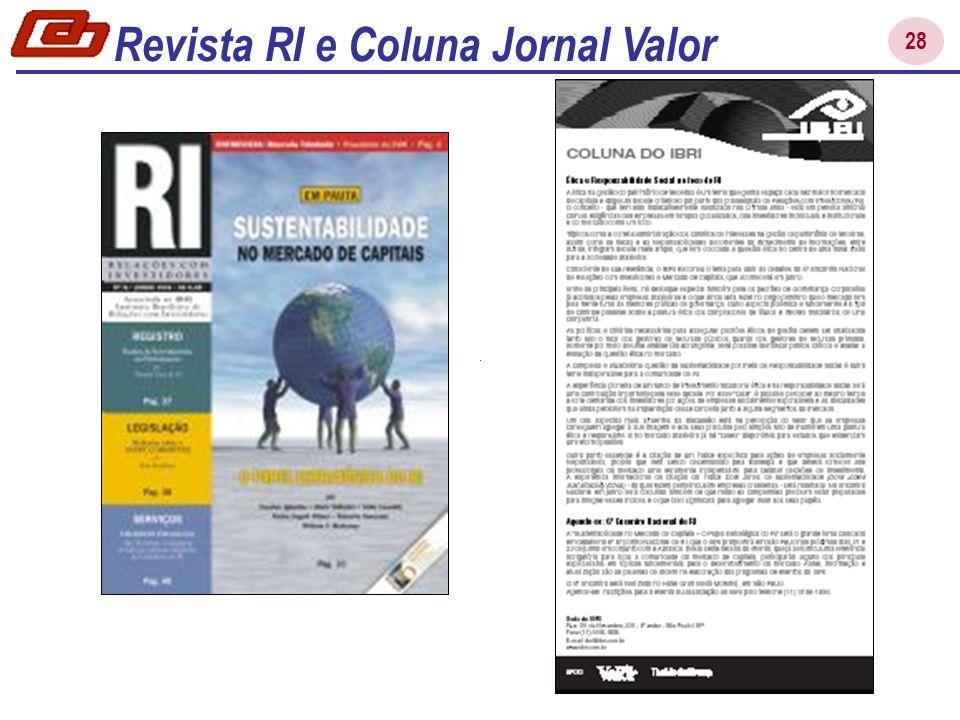 Revista RI e Coluna Jornal Valor