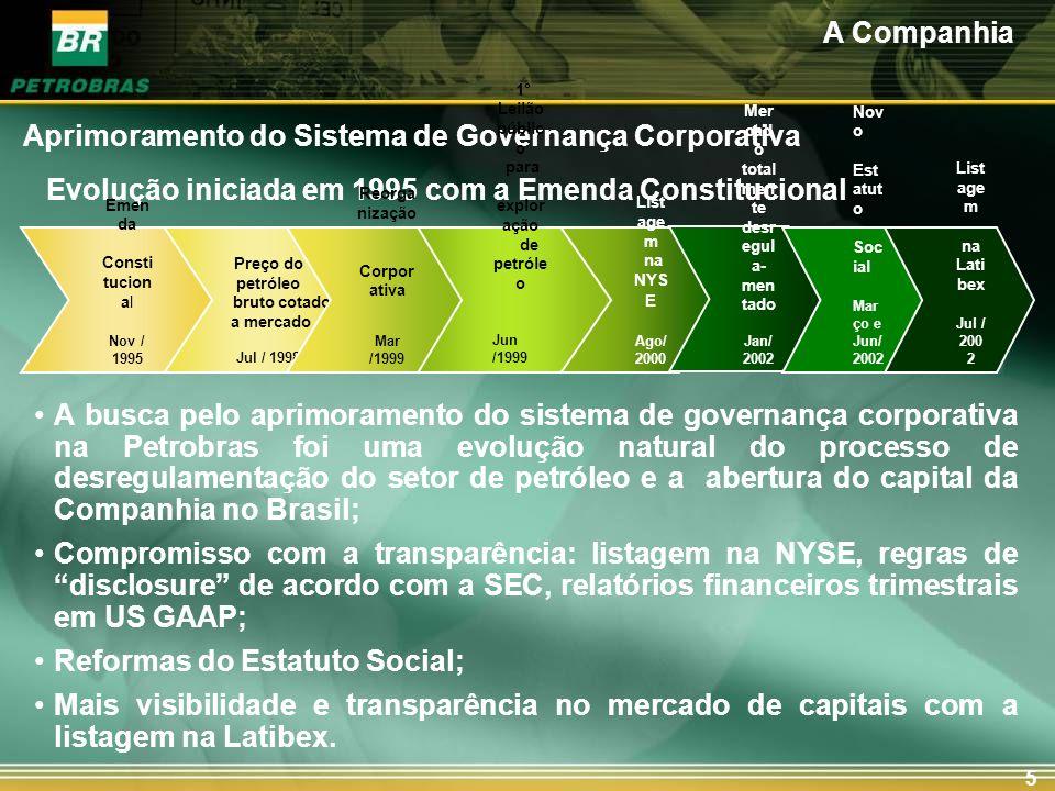 Principais reformas estatutárias em 1999