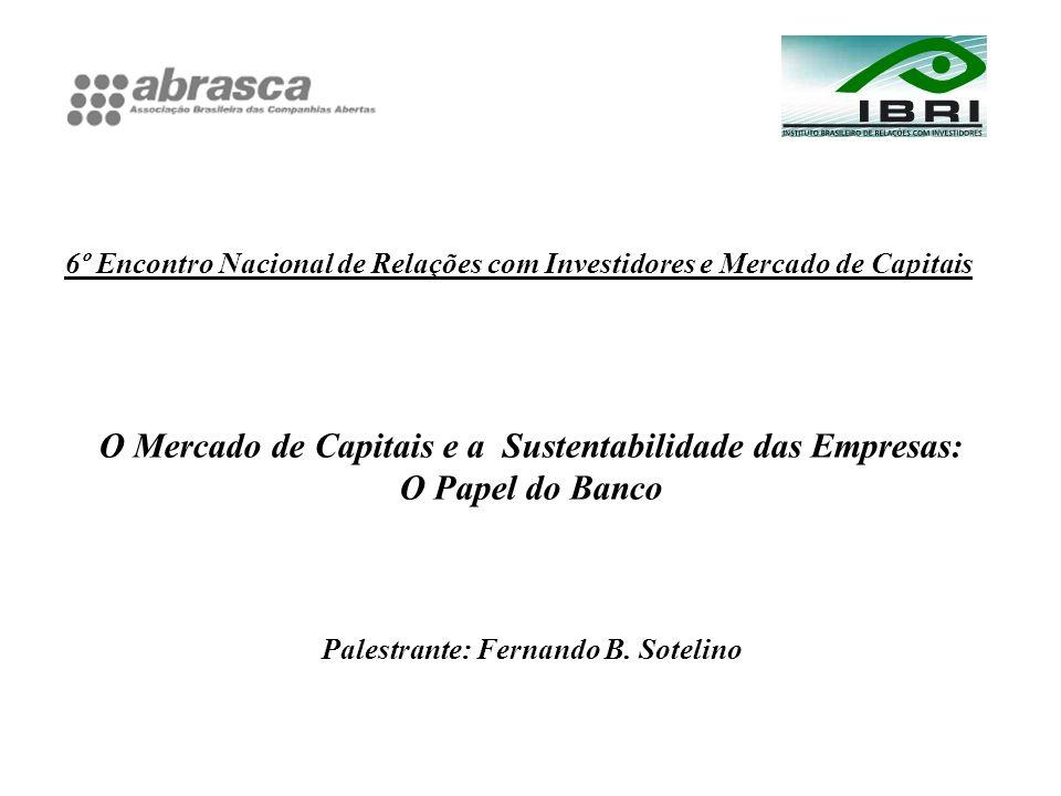 O Mercado de Capitais e a Sustentabilidade das Empresas: