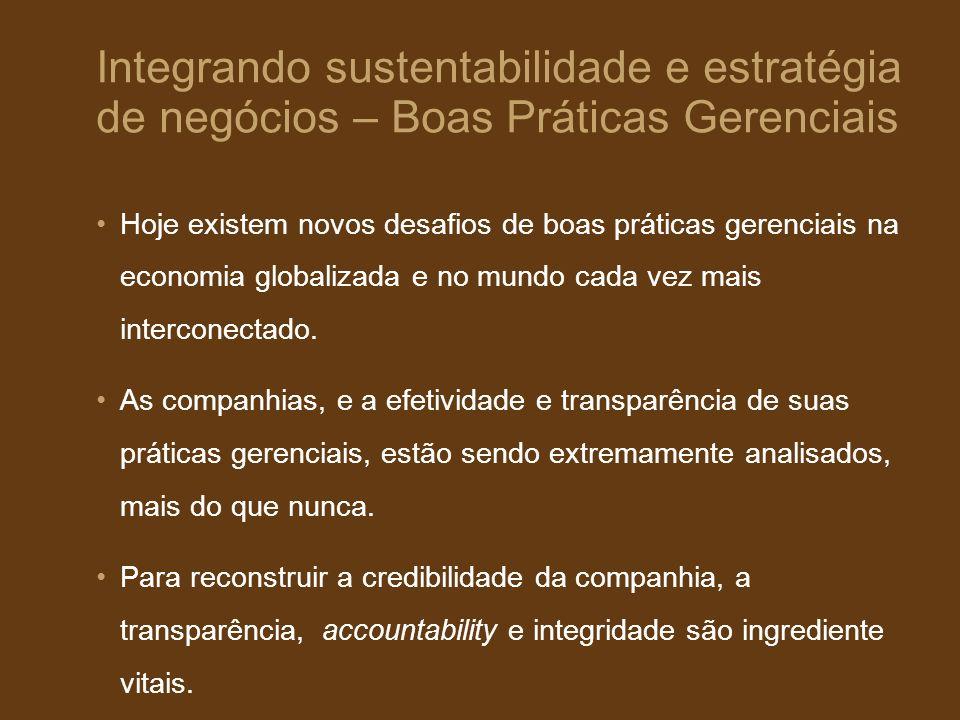 Integrando sustentabilidade e estratégia de negócios – Boas Práticas Gerenciais