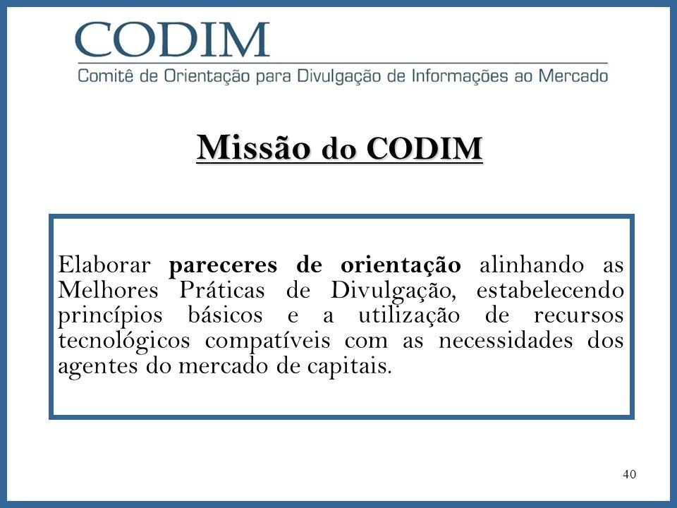 Missão do CODIM