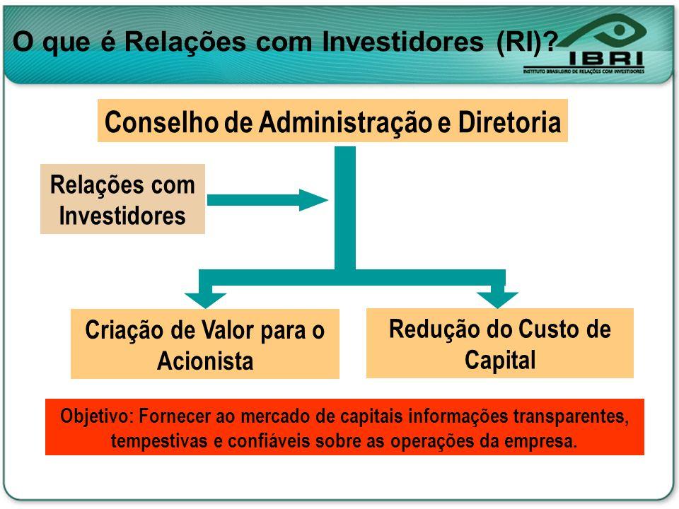Conselho de Administração e Diretoria