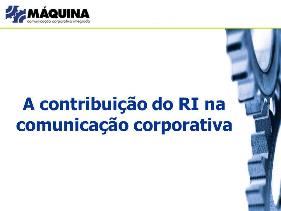 A contribuição do RI na comunicação corporativa