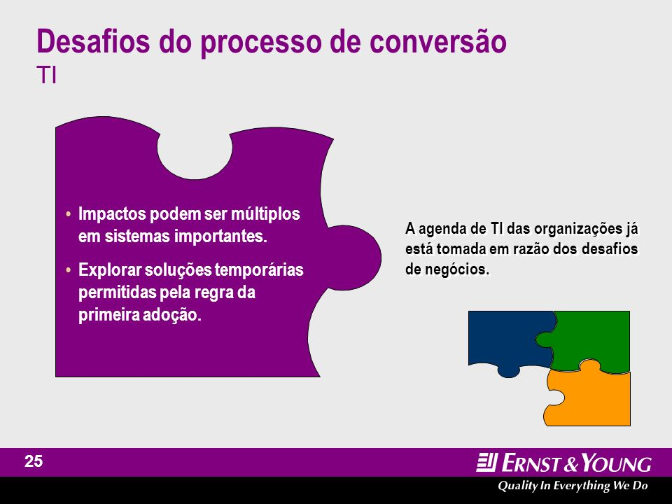 Desafios do processo de conversão TI
