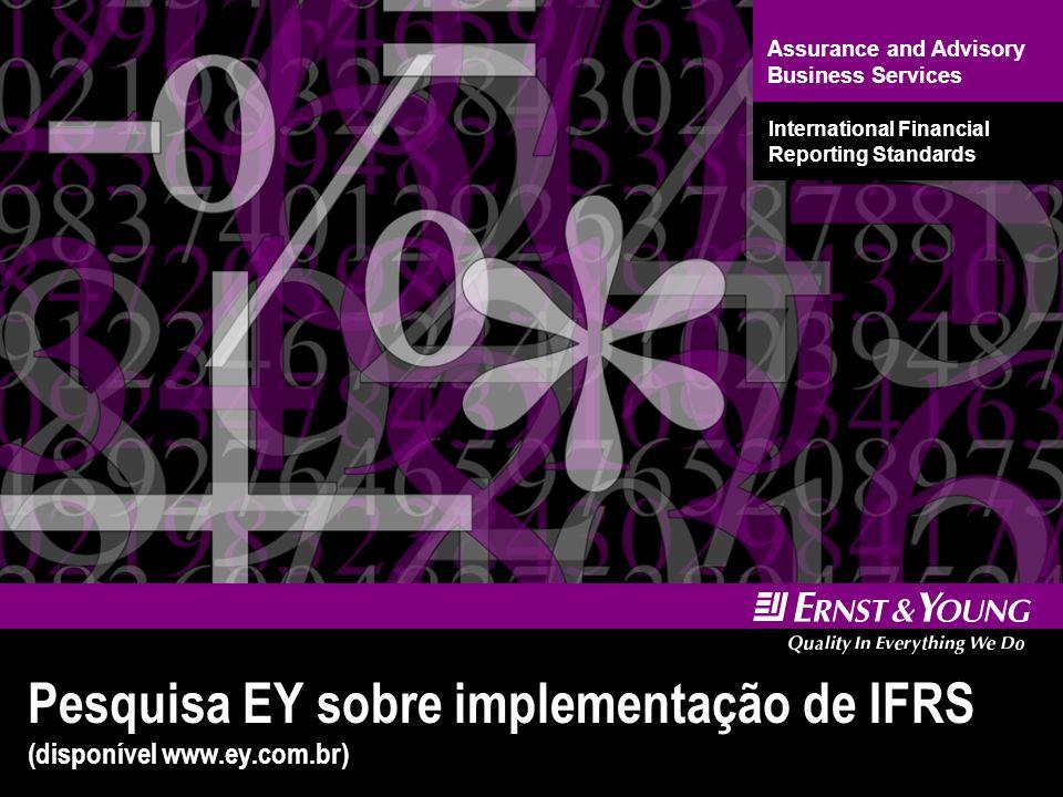 Pesquisa EY sobre implementação de IFRS (disponível www.ey.com.br)