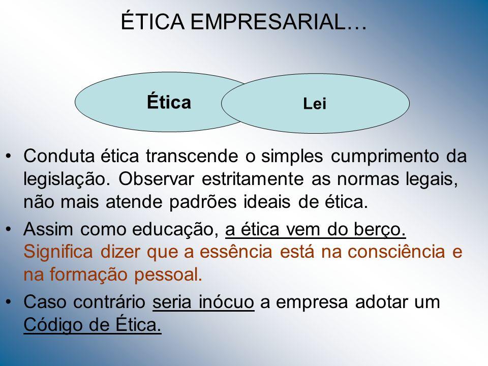 ÉTICA EMPRESARIAL… Ética