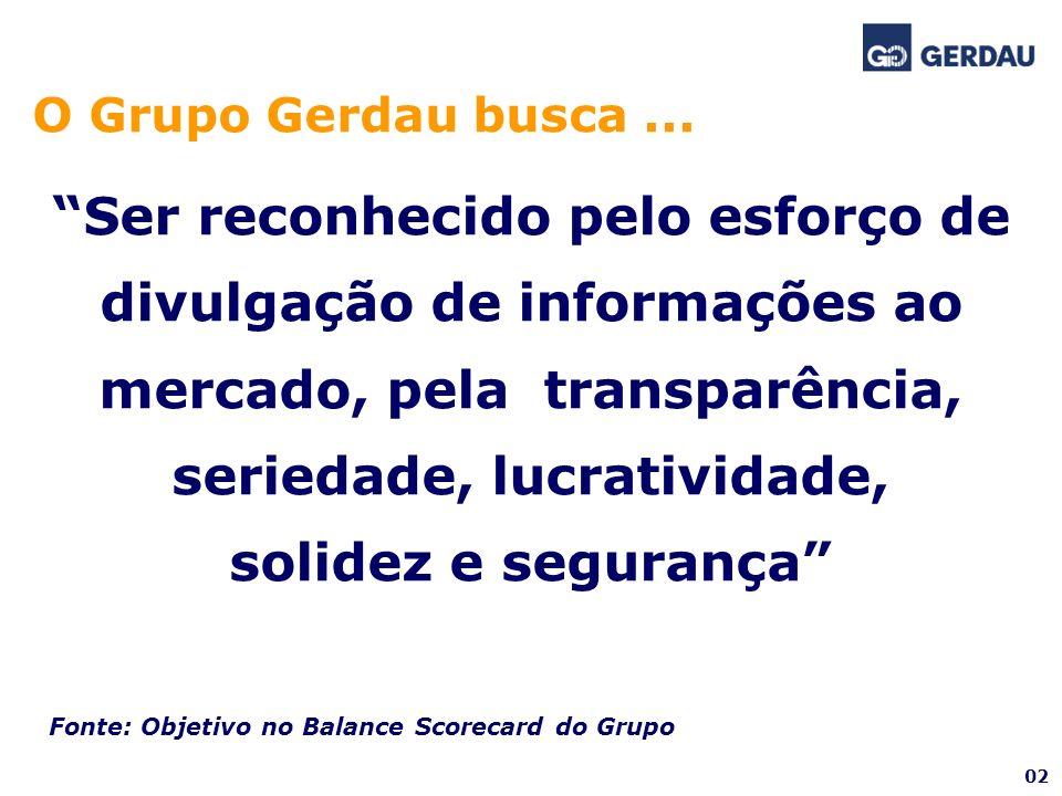 O Grupo Gerdau busca ...