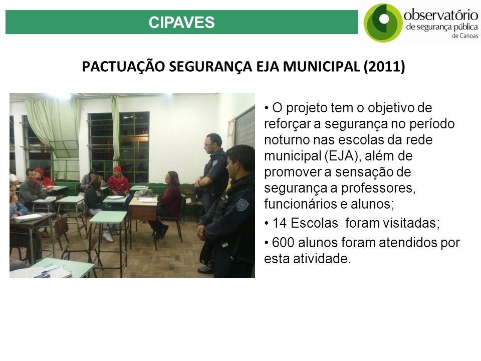 PACTUAÇÃO SEGURANÇA EJA MUNICIPAL (2011)