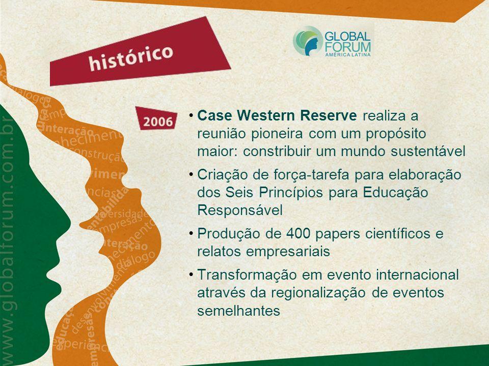 Case Western Reserve realiza a reunião pioneira com um propósito maior: constribuir um mundo sustentável
