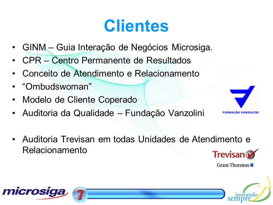 Clientes GINM – Guia Interação de Negócios Microsiga.