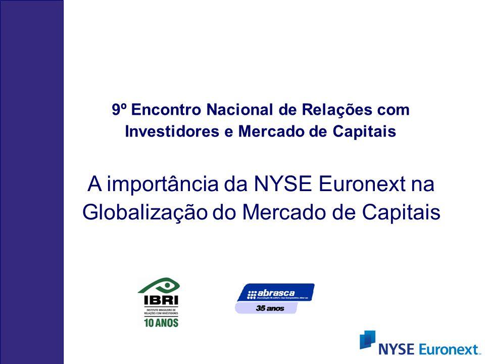 A importância da NYSE Euronext na Globalização do Mercado de Capitais