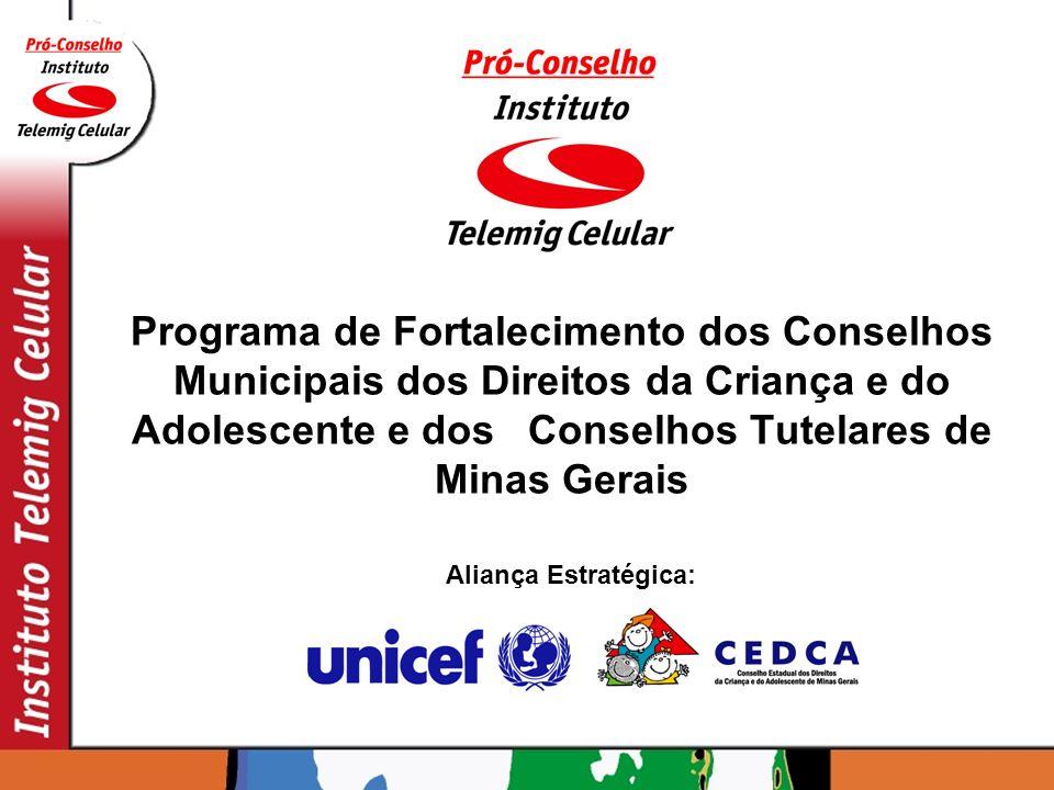Programa de Fortalecimento dos Conselhos Municipais dos Direitos da Criança e do Adolescente e dos Conselhos Tutelares de Minas Gerais