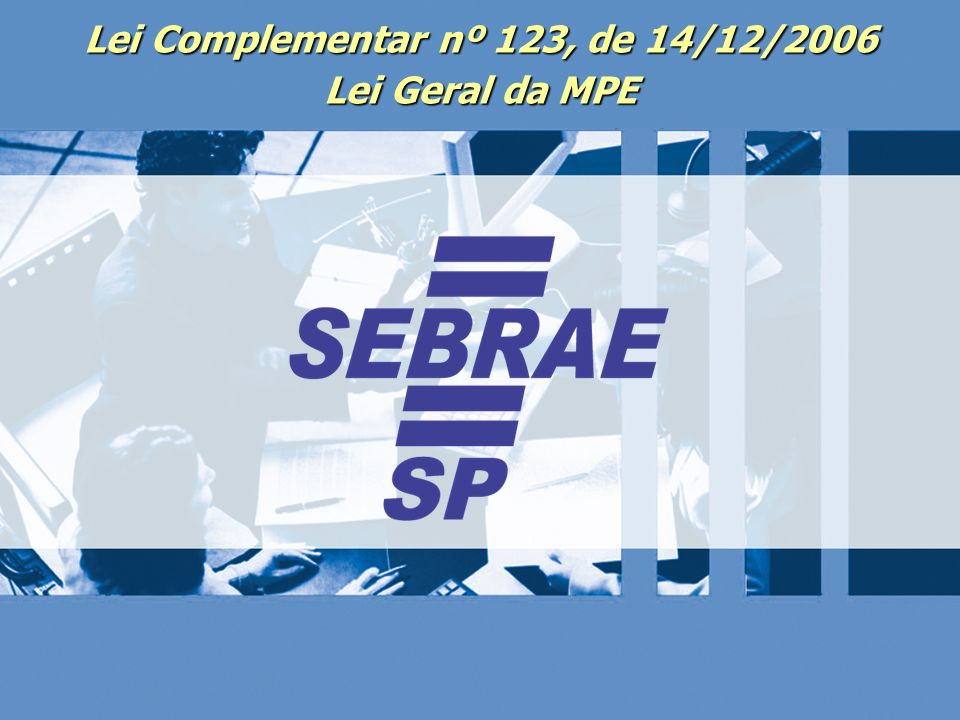 Lei Complementar nº 123, de 14/12/2006