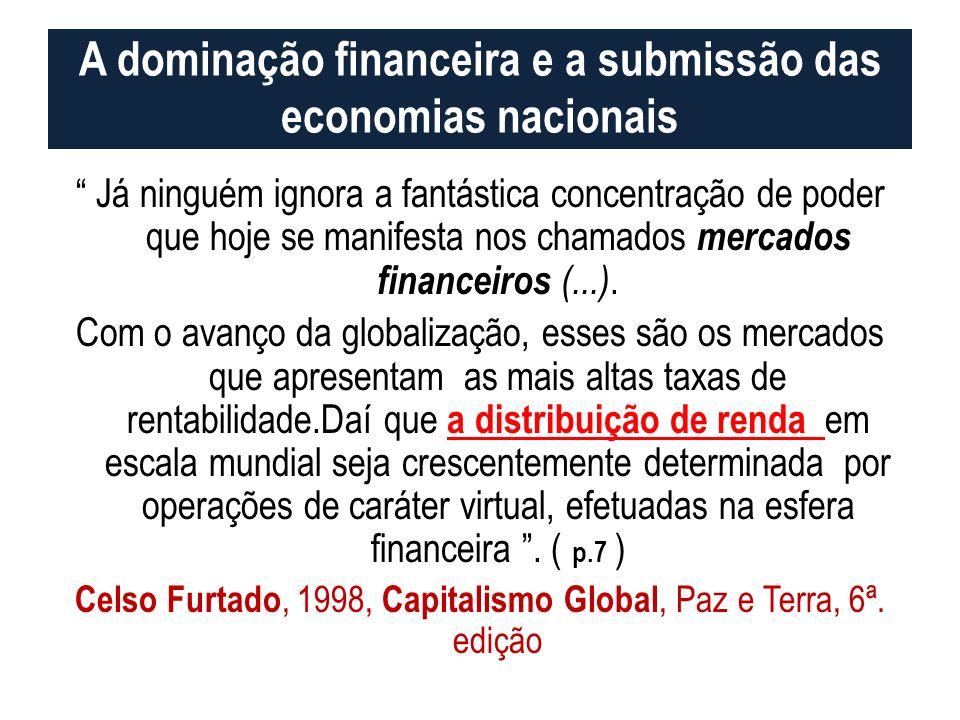 A dominação financeira e a submissão das economias nacionais