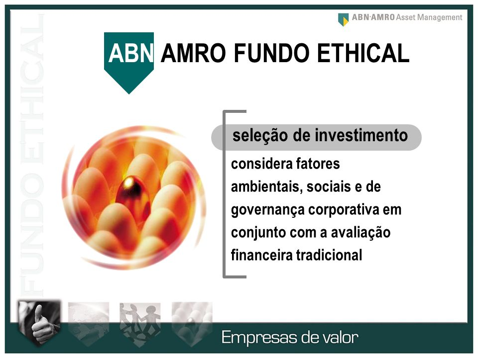 ABN AMRO FUNDO ETHICAL seleção de investimento