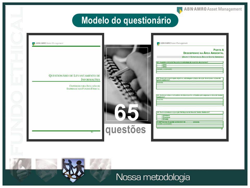 Modelo do questionário