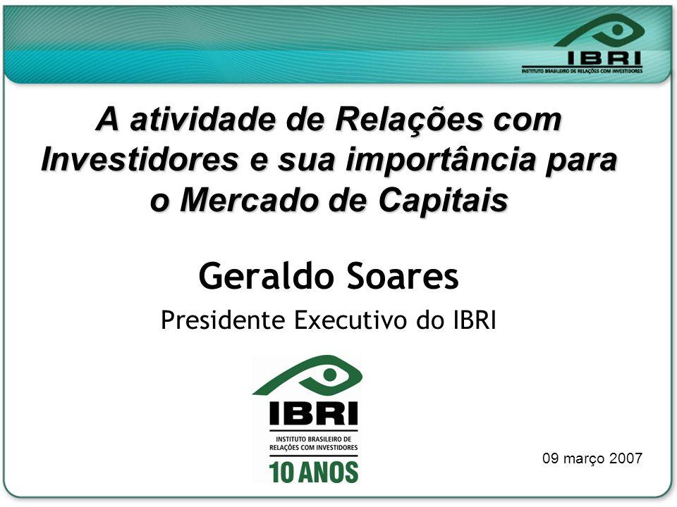 Presidente Executivo do IBRI