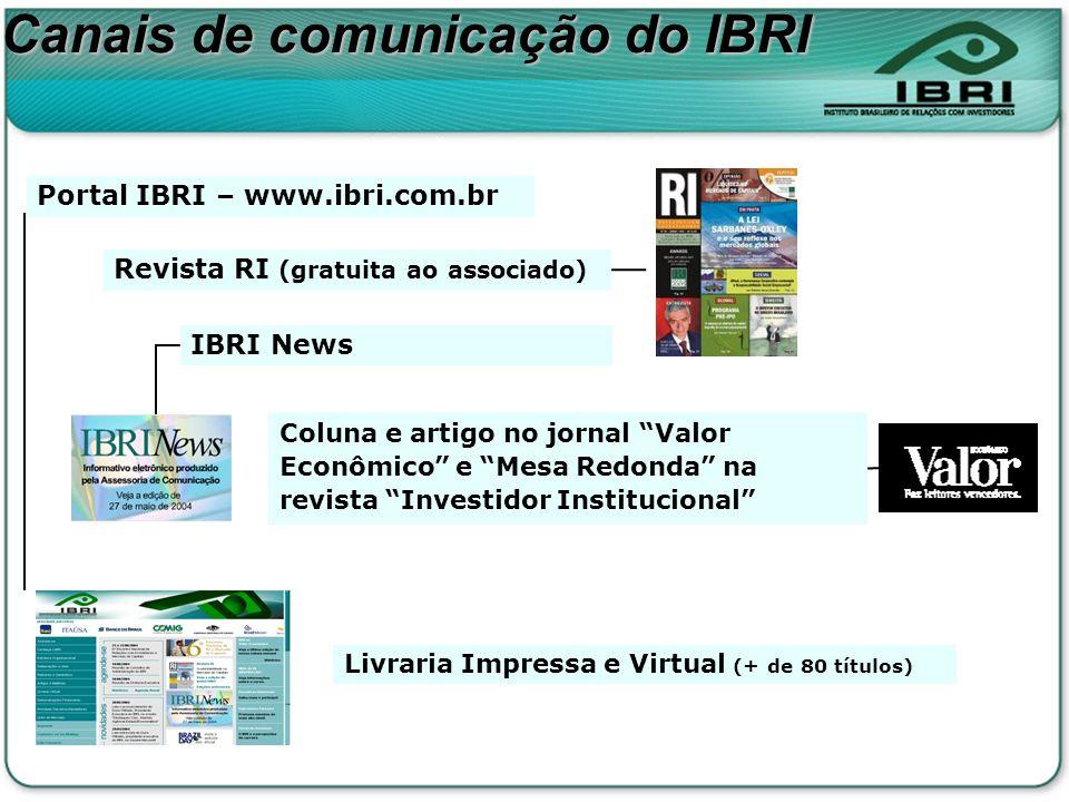 Canais de comunicação do IBRI
