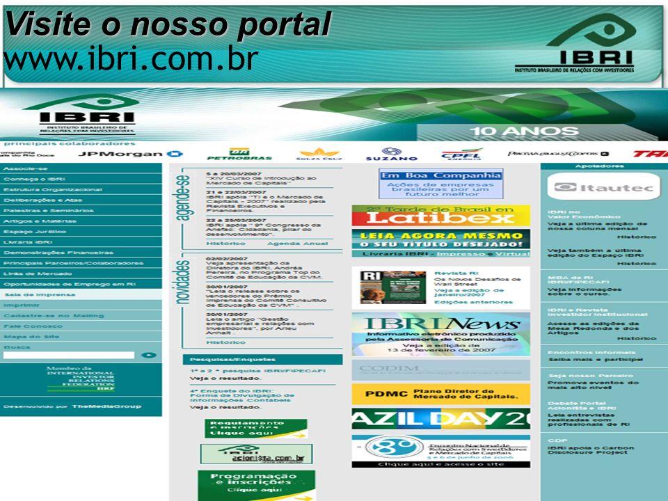 Visite o nosso portal www.ibri.com.br