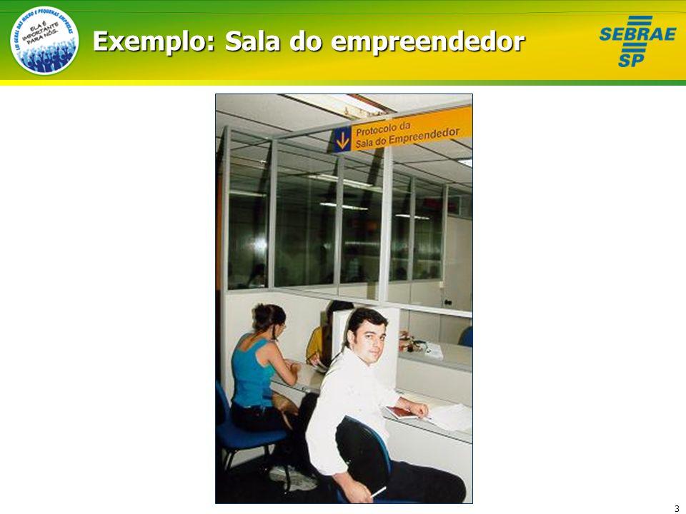 Exemplo: Sala do empreendedor